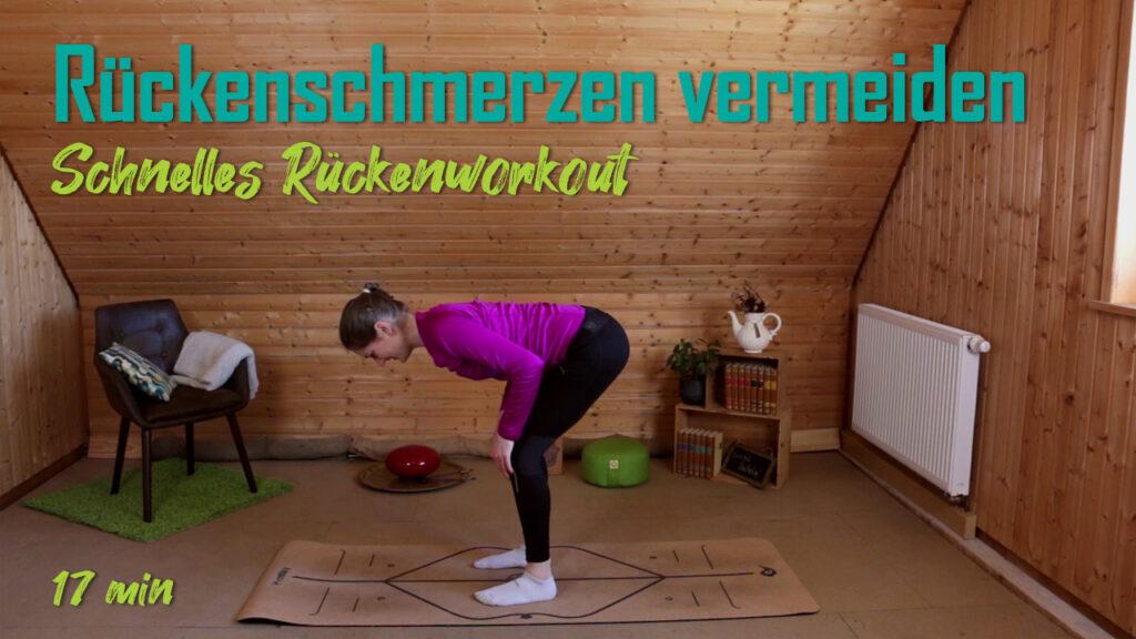 Rückenschmerzen vermeiden | kurzes Rückenworkout