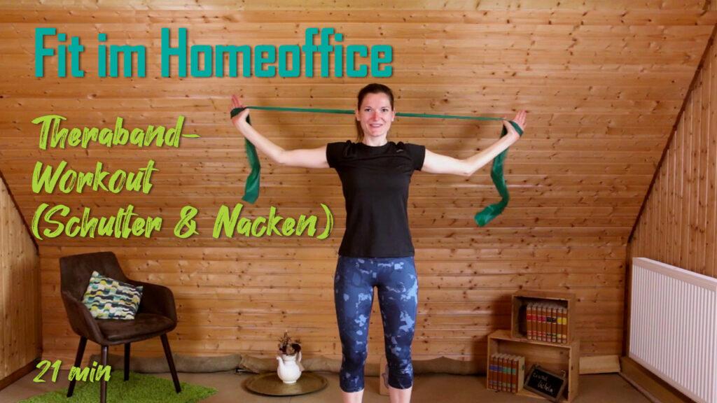 Theraband-Workout (Schulter & Nacken) | Fit im Homeoffice